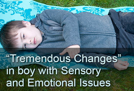 """Tremendous Changes"" in boy with Sensory and Emotional Issues"