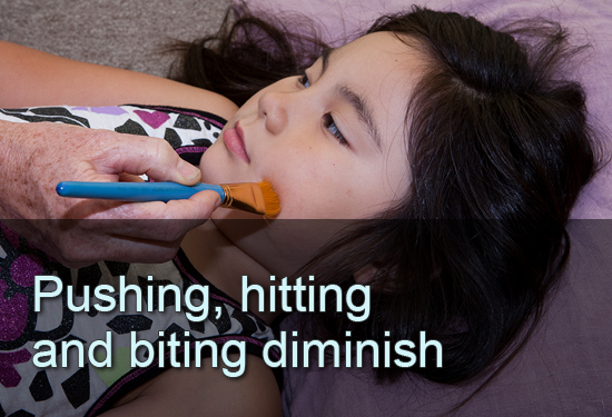 Pushing, hitting and biting diminish