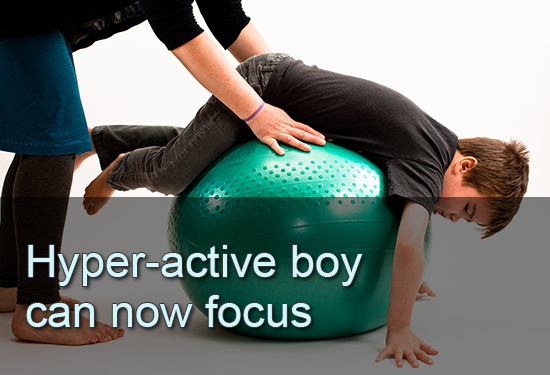 Hyper-active boy can now focus